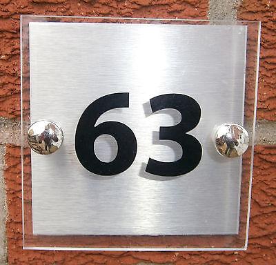 ALUMINIUM BACKPLATE QUALITY ACRYLIC MODERN HOUSE SIGN PLAQUE