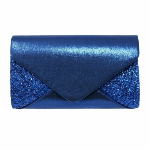 Women Wedding Evening Glitter Sparkle Envelope Clutch Bridal Shoulder Bag Purse