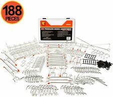 Wellmax 188pc Pegboard Hooks Accessories Assortment Heavy Duty Peg Board