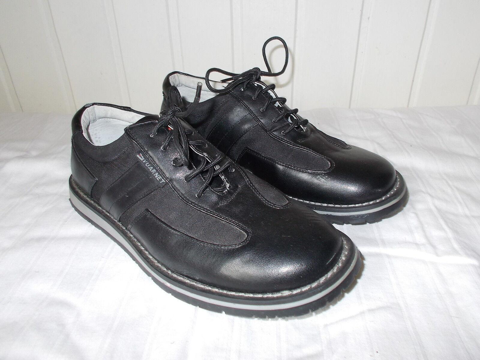 Zapatos à 40 lacets cuir noir VUARNET 40 à semelle caoutchouc e98814