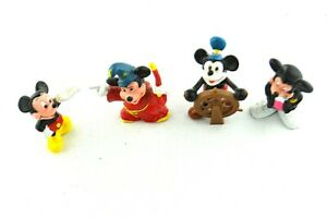 The Walt Disney Co Applause China PVC Figurines Figure Mickey Mouse Wizard Lot