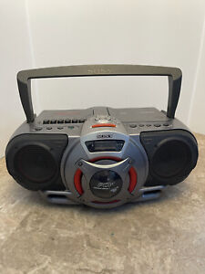 "Sony CFD-G55 Cassette & CD Player AM/FM Radio 18"" Boombox w/ Power Drive Woofer"