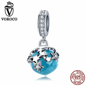 VOROCO-Exclusive-925-Sterling-Silver-Blue-Faceted-Glasses-Dangle-Charms-AAA-CZ