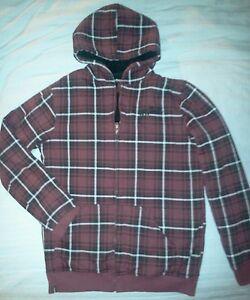 0ef4f3da1ad655 Tony Hawk Fleece Plaid Hoodie  Jacket Sweatshirt~Boy s size Large 14 ...