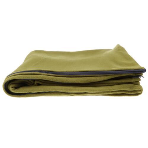Outdoor Camping Envelope Sleeping Bag Zipper Double Sided Fleece Liner Blanket