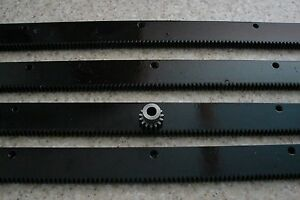 CNC-Stepper-motor-mech-Rack-amp-Gear-96-034-Rack-4-24-034-pcs-amp-a-15T-8mm-pinion-gear