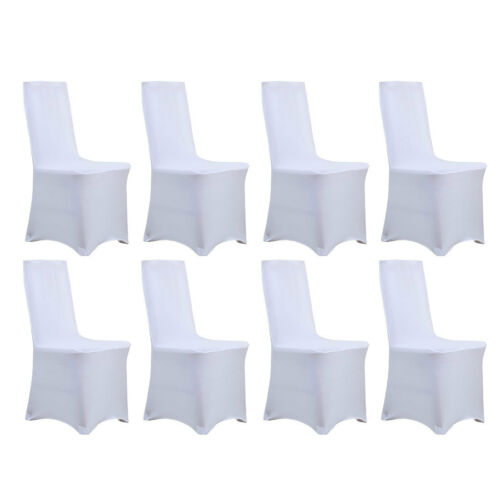 8 Pcs Spandex Stretch Chair Covers White for Wedding Party Banquet Decoration US