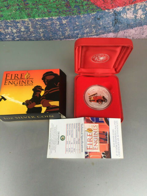 1 oz fine Silver PROOF COIN 2006 German FIRE ENGINES OF THE WORLD fire fighter .