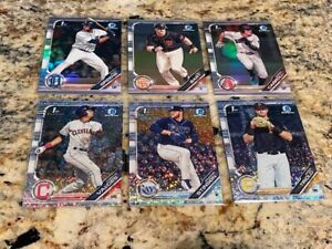 2019-BOWMAN-CHROME-6-CARD-SPECKLE-REFRACTOR-RC-SP-LOT-RILEY-GREENE-JOEY-BART