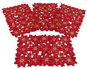 Flor-de-Navidad-Collection-Red-Embroidered-Cutout-Poinsettias-12x18-034-Set-of-4
