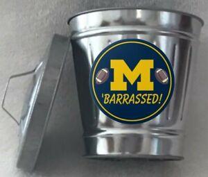 U-of-M-Football-Mini-Trashcan-Original-Collectible-Novelty-Mini-Trashcan