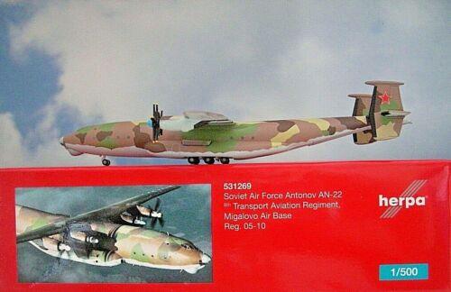 Herpa Wings 1:500 antonov an-22 Soviet Air Force 05-10 531269 modellairport 500