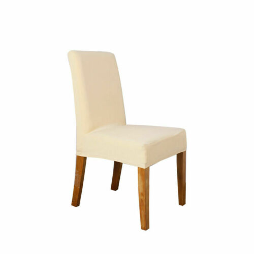 Stretch Dining Chair Seat Covers Spandex Removable Slipcover Banquet Wedding UK