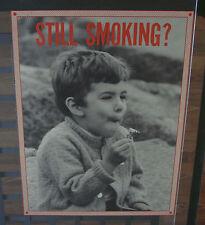 original vintage poster Still Smoking little boy smoking marijuana comedy humor