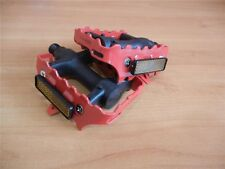 * Red Union Cage Pedals 9/16'' Fixie- Road Bike-Mountain Bike