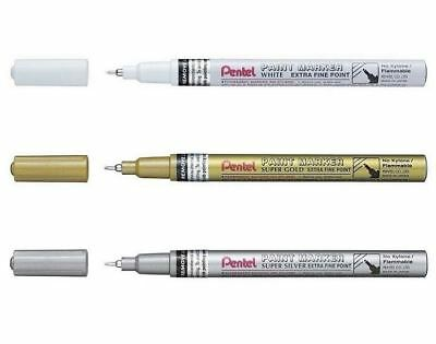 Medium Paint Marker Pentel Permanent Paint Markers MMP10 White Silver Gold