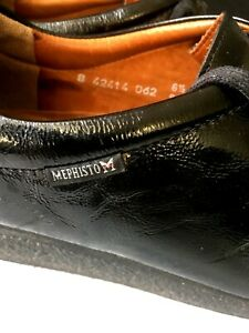 MEPHISTO-Women-Shoes-Size-6-5-Colour-Black-Leather-Made-In-France