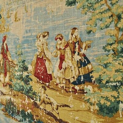 Covington BOSPORUS Billard 127 Linen Drapery Fabric, Toile Fabric by the yard