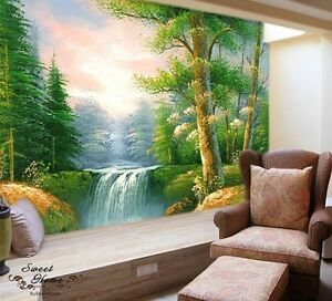 Old growth Forest Landscape Full Wall Mural Large Wall Print Decal