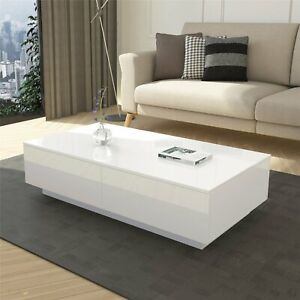 Details About 95cm Modern High Gloss Coffee Table Tea Table Rectangle Living Room Furniture