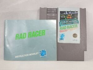 Rad Racer NES Nintendo Cart Manual WORKS TESTED GREAT Shape Pak Graphics Sticker