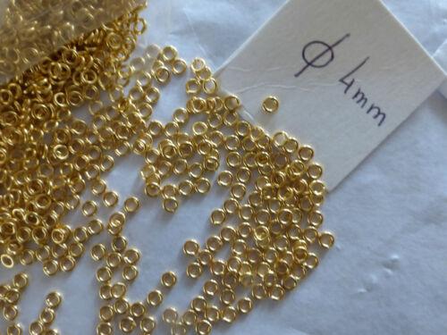 lot de 500 anneaux ouvert métal doré 4 mm création apret bijou jonction FRANCE
