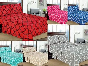 Geometric-Printed-4-Pcs-Sheet-Set-16-034-Deep-Pocket-Bed-Sheets-Microfiber-Bedding