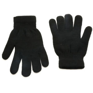 Black-Thermal-Warm-Stretch-Wool-Knitted-Riding-Driving-Gloves-UK-Seller-LIGH