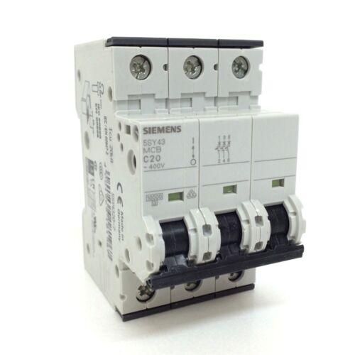 MCB 5SY43-C20 Siemens 3P 20A C Curve 5SY43207