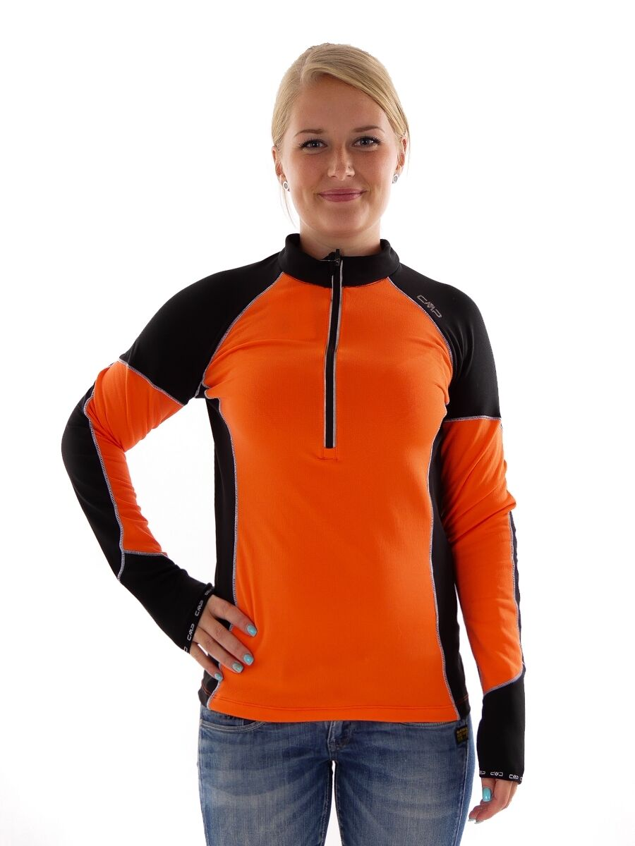 CMP Running Functional Shirt Sports Shirt orange Collar Breathable