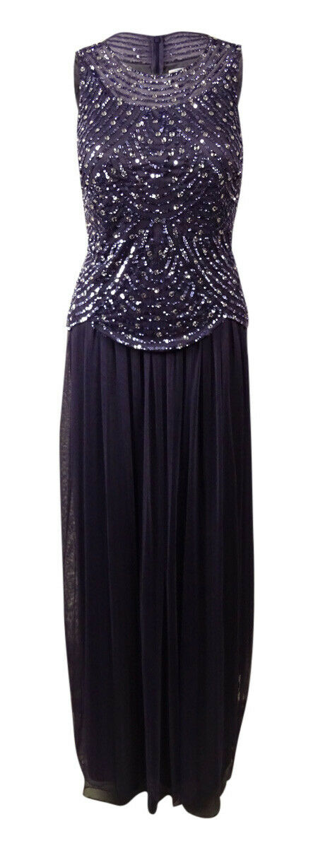 Patra Women's Sequined Popover Mesh Gown