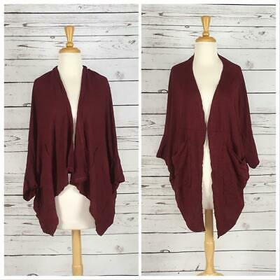 $75 Chalet Us Taglia S Vino Cardigan Lagenlook Art To Wear Abbigliamento Two