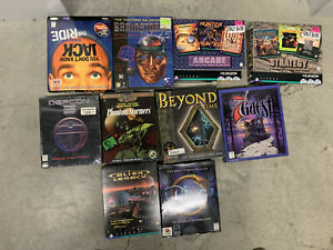 Lot-of-Ten-10-Rare-Action-Fantasy-Puzzle-Big-Box-PC-Games-New-and-Used