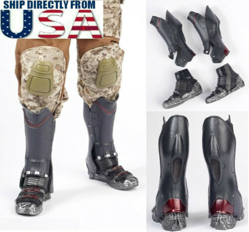 """1//6 Scale Combat Boots For Avengers Falcon For 12/"""" Hot Toys Male Figure USA"""