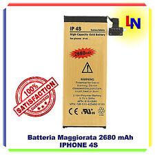 Batteria GOLD MAGGIORATA 2680mAH IPHONE 4S - ZERO CICLI