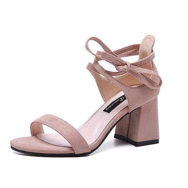 holzschuhe hausschuhe 7 cm elegant rosa absatz quadrat Sandaleeen simil leder 9956