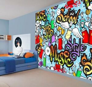 Image Is Loading Cool Kids Graffiti Music Style Hip Hop School