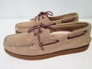 SPERRY TOP SIDER Tan Suede Leather Boat