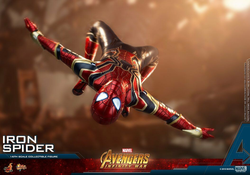 (A) HOT TOYS 1/6 MARVEL AVENGERS INFINITY WAR MMS482 IRON SPIDER-MAN FIGURE