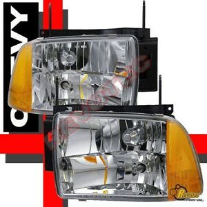 Image Is Loading 95 96 97 Chevy Blazer S10 Headlights Lamps