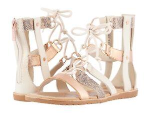 50ee3ebc8a4 NIB SOREL Women s Ella Lace Up Leather Sandals in Natural