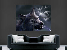 SCARY WOLF POSTER TEETH EYES WEREWOLF FANTASY ART POSTER WALL PRINT LARGE GIANT