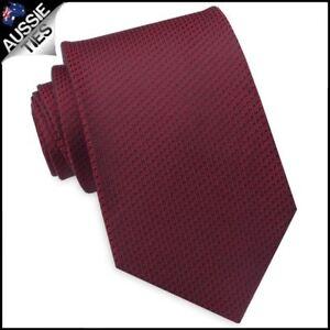 Burgundy-Red-Woven-Texture-Mens-Tie-Men-039-s-Necktie