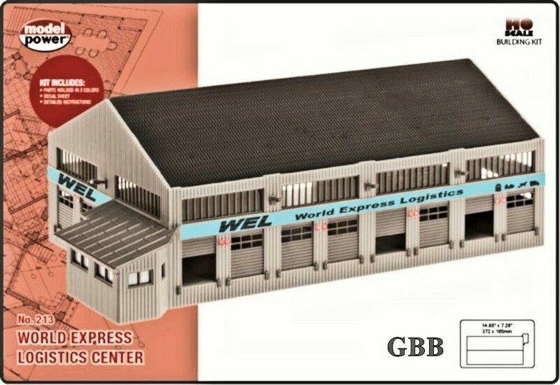 Model Power World Express Logistics Center Kit 213 HO Scale - Free Shipping