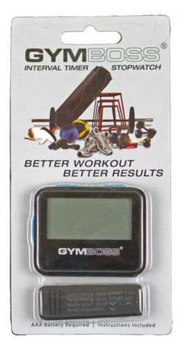 BLUE SOFTCOAT FROM GYMBOSS HQ GYMBOSS INTERVAL TIMER AND STOPWATCH BLACK