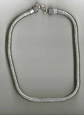 collana bagno argento indiano  280 gr INDIAN SILVER snake necklace 50 CM