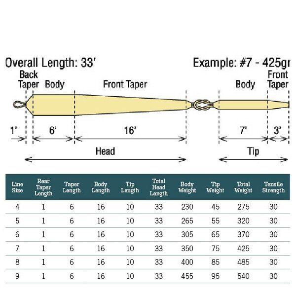 RIO NEW SCANDI SHORT  VERSITIP  SHORT 8 485-GR GRAIN SPEY ROD FLY LINE HEAD + 4 TIPS 61b52a
