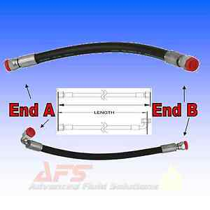 1-4-ID-2-Wire-Hydraulic-Hose-Assembly-Fitted-with-BSP-Hose-Tail-Inserts-2SC-SAE