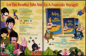 The-Beatles-YELLOW-SUBMARINE-Orig-1999-Trade-Print-AD-ADVERTISEMENT-promo