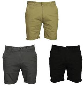 NEW-MENS-DML-CHINO-SHORTS-STRETCH-SLIM-FIT-IN-GREY-BLACK-BROWN-COLOURS